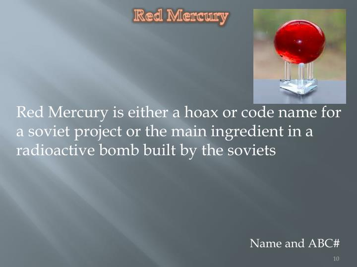 Red Mercury
