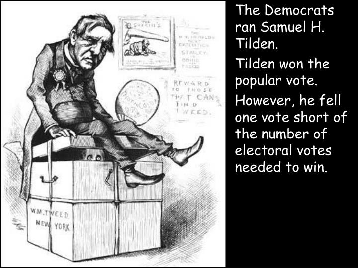 The Democrats ran Samuel H. Tilden.