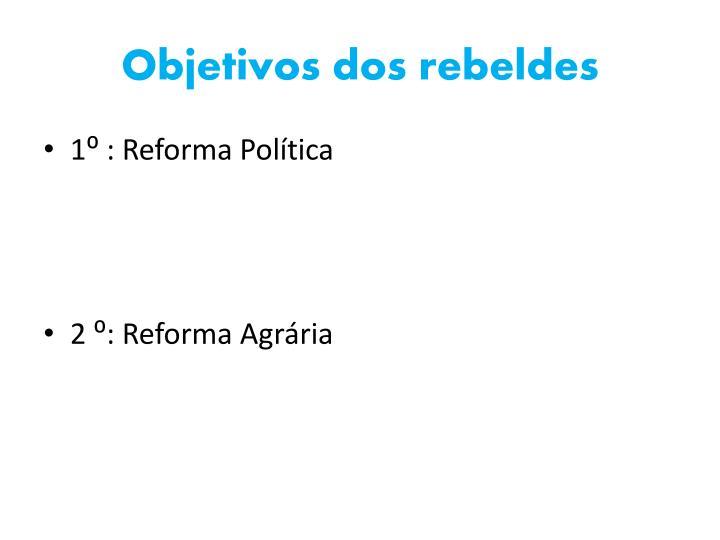 Objetivos dos rebeldes