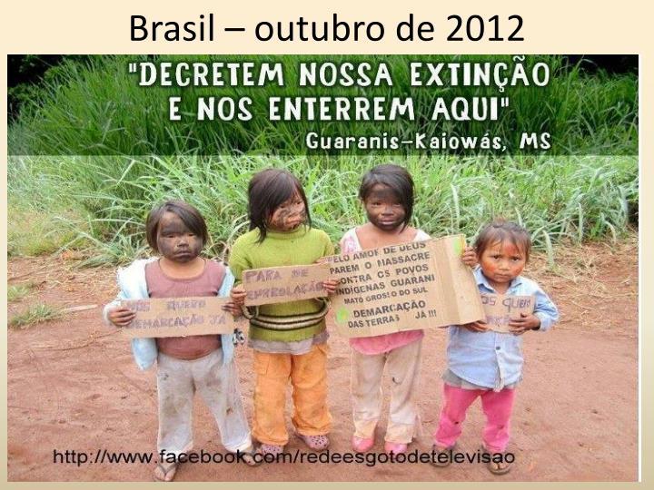 Brasil – outubro de 2012