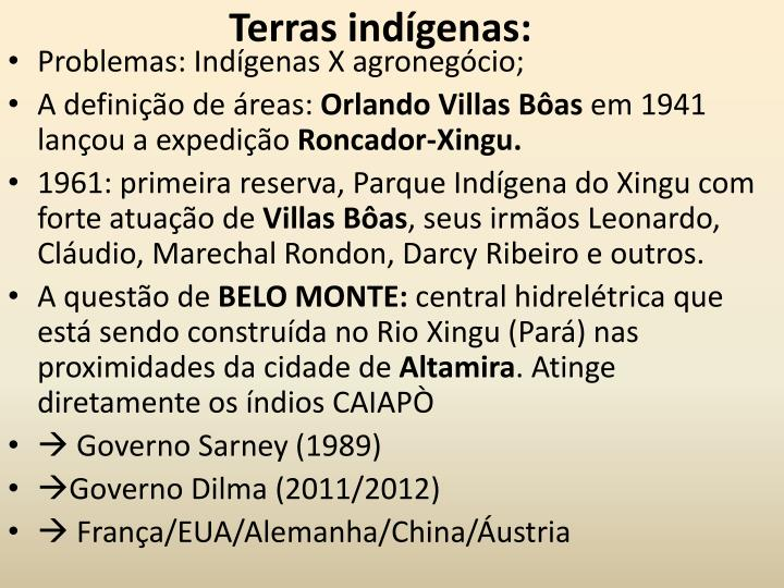 Terras indígenas: