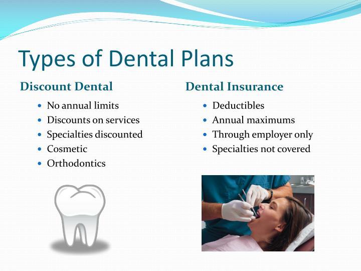Types of Dental Plans