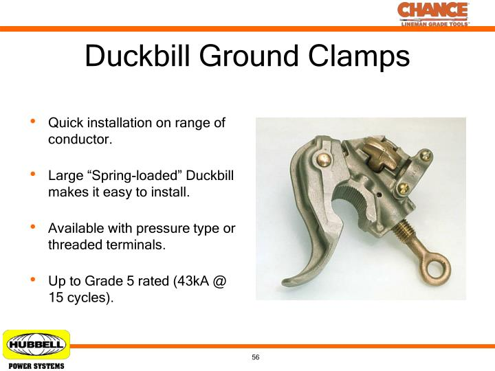 Duckbill Ground Clamps