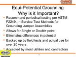 equi potential grounding why is it important1