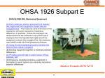 ohsa 1926 subpart e