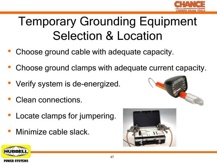 Temporary Grounding Equipment