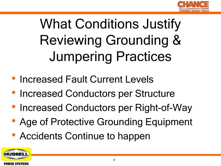 What Conditions Justify Reviewing Grounding & Jumpering Practices