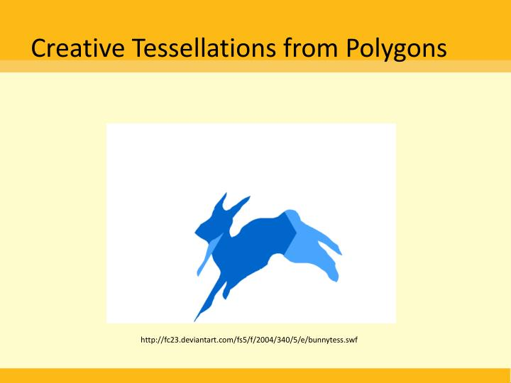 Creative Tessellations from Polygons