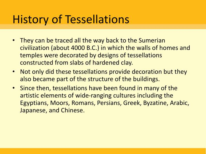 History of Tessellations