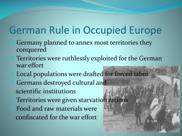 German Rule in Occupied Europe