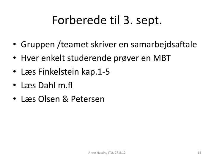 Forberede