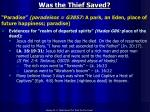 was the thief saved1