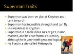 superman traits