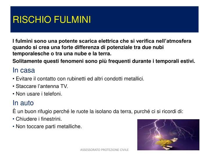 RISCHIO FULMINI