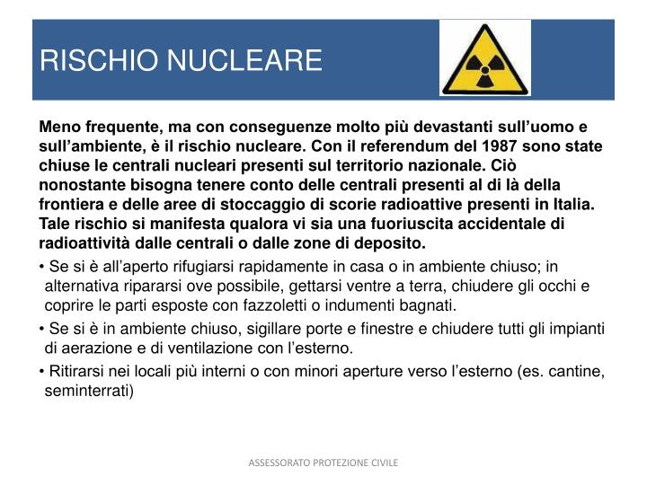 RISCHIO NUCLEARE