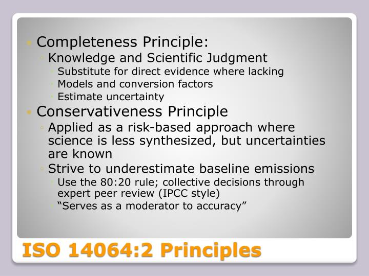 Completeness Principle: