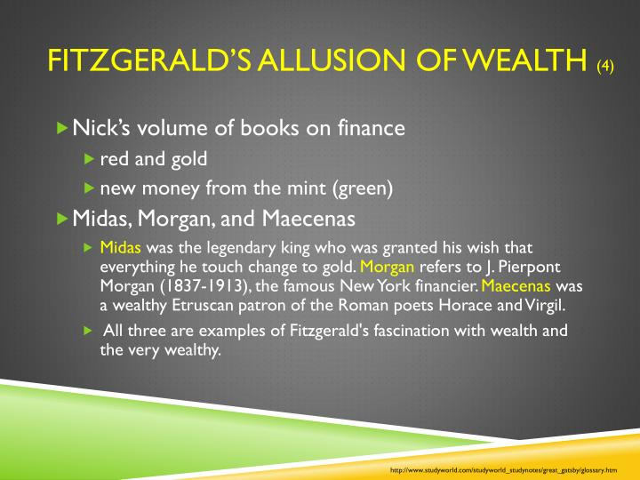 Fitzgerald's Allusion of Wealth