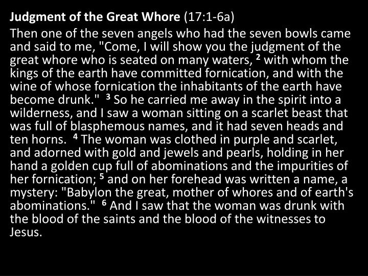 Judgment of the Great Whore