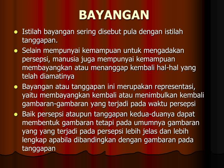 BAYANGAN