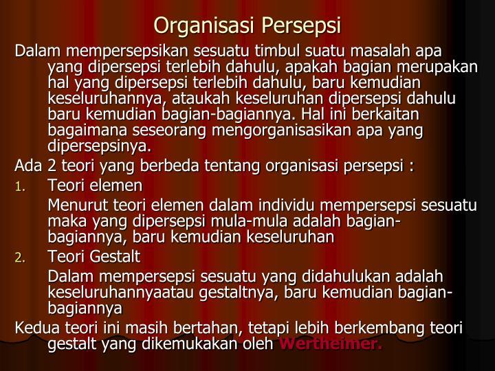 Organisasi Persepsi