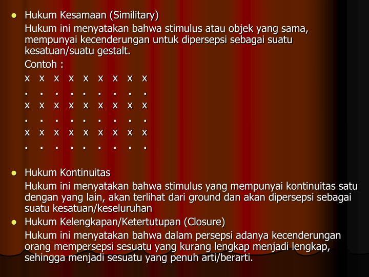 Hukum Kesamaan (Similitary)