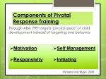 components of pivotal response training