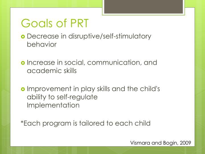 Goals of PRT