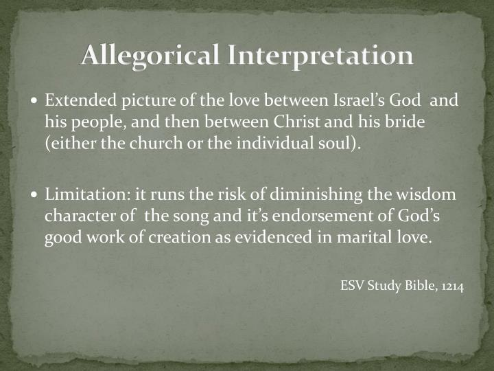 Allegorical Interpretation