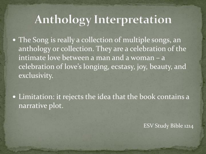 Anthology Interpretation