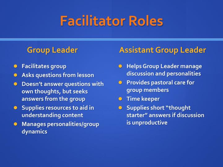 Facilitator Roles