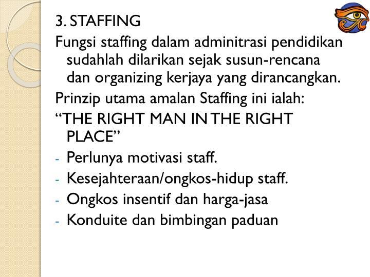 3. STAFFING