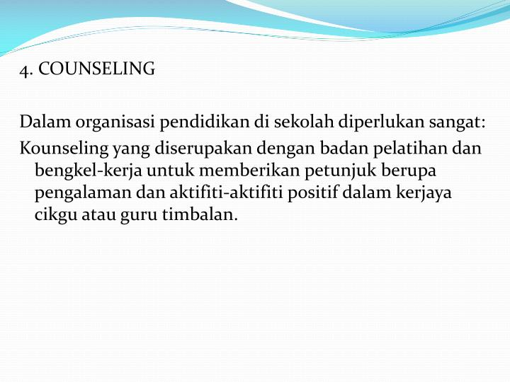 4. COUNSELING