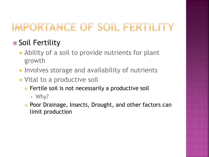 Importance of soil fertility