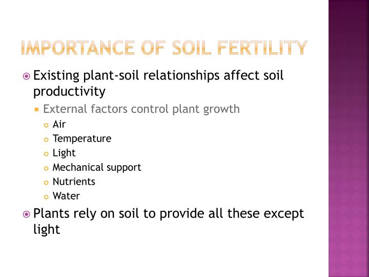 Importance of soil fertility1