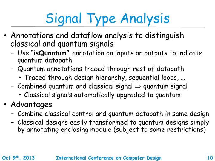 Signal Type Analysis
