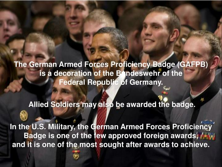 The German Armed Forces Proficiency Badge (GAFPB)
