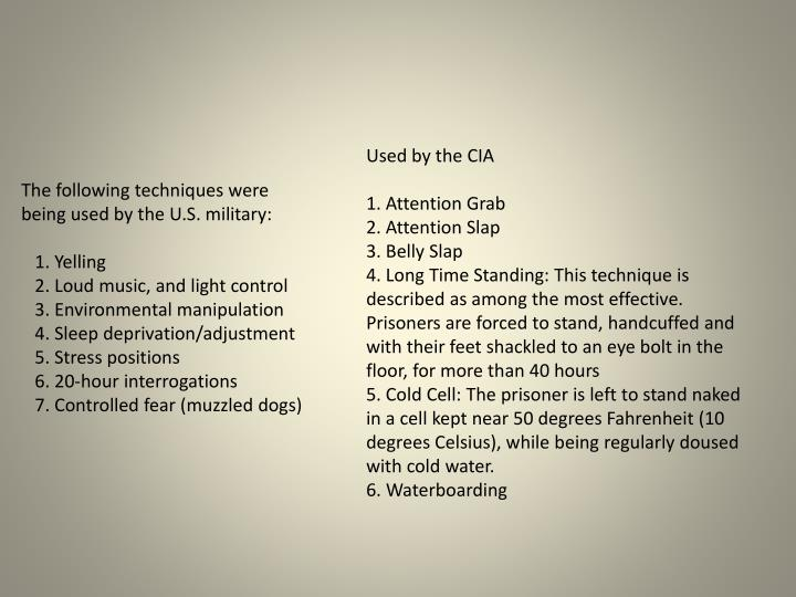 Used by the CIA