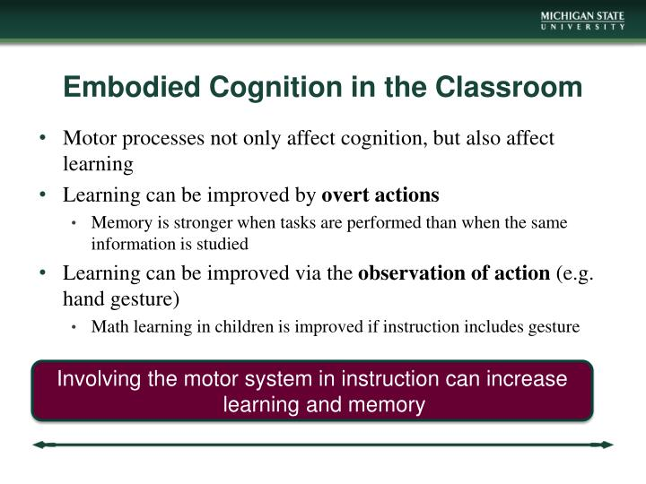 Embodied Cognition in the Classroom