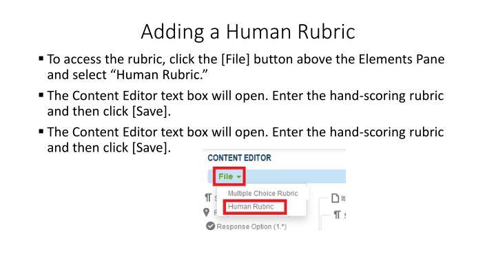 Adding a Human Rubric