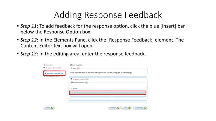 Adding Response