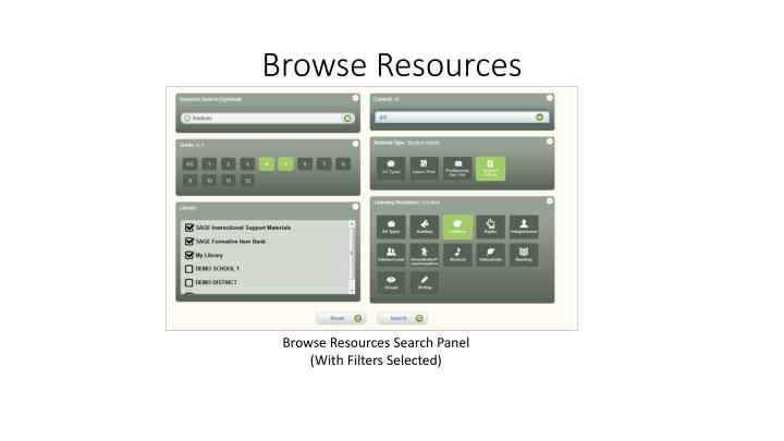 Browse Resources