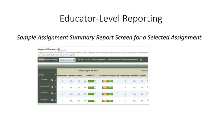 Educator-Level Reporting