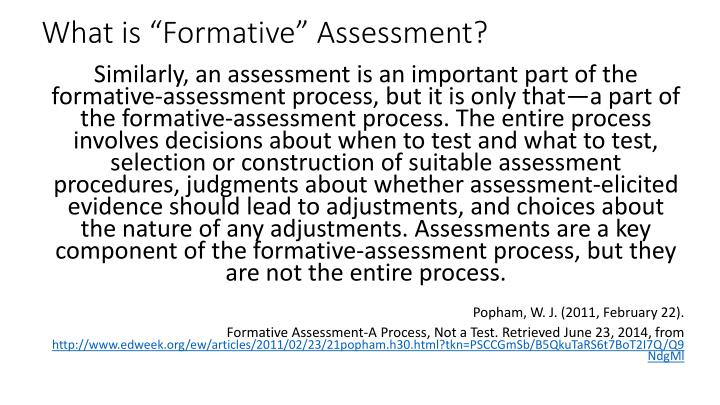 "What is ""Formative"" Assessment?"
