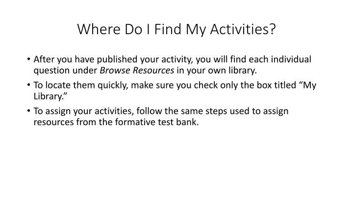 Where Do I Find My Activities?
