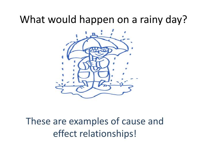 What would happen on a rainy day?