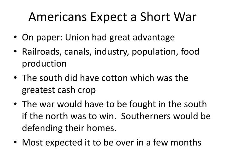 Americans Expect a Short War