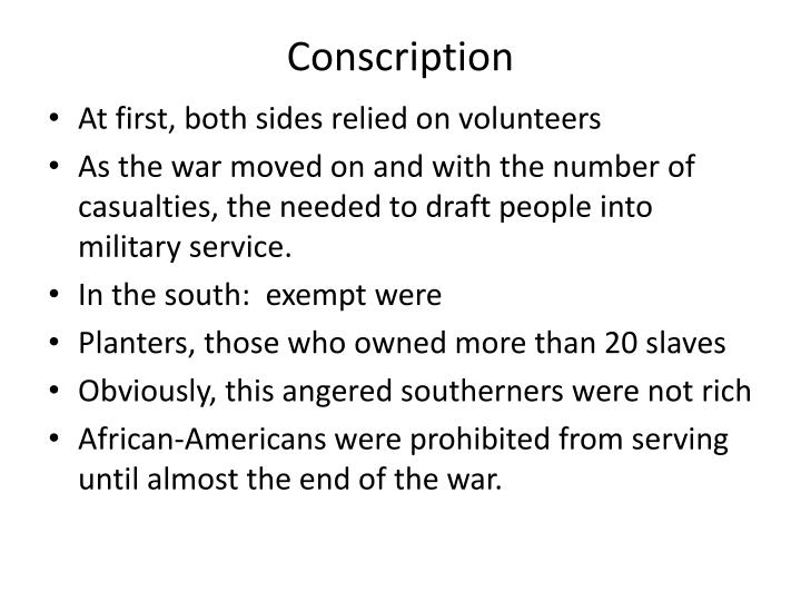 Conscription