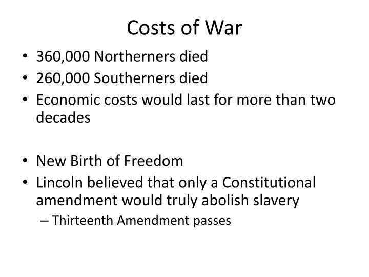 Costs of War