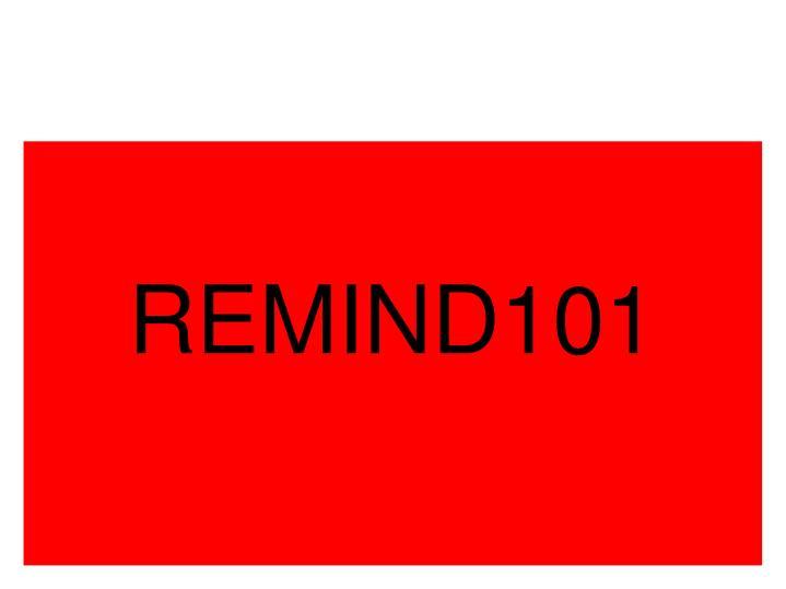 REMIND101