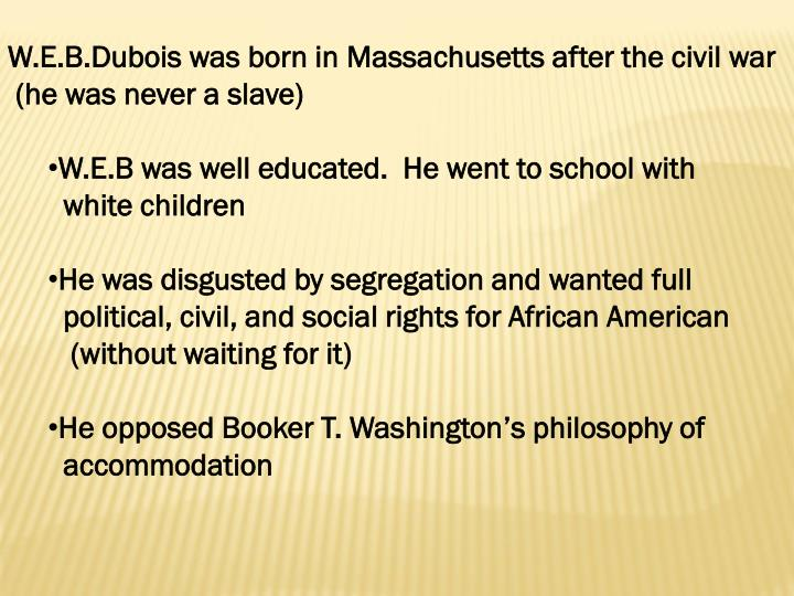 booker t washingtons attitude towards the education for the african americans Booker t washington's persona tends to remind us of dr martin luther king jr by being less threatening to whites than alternative philosophies allowed, both washington and king could appeal to both african-americans and moderate whites thus straddling the racial divide and significantly increasing their influence.
